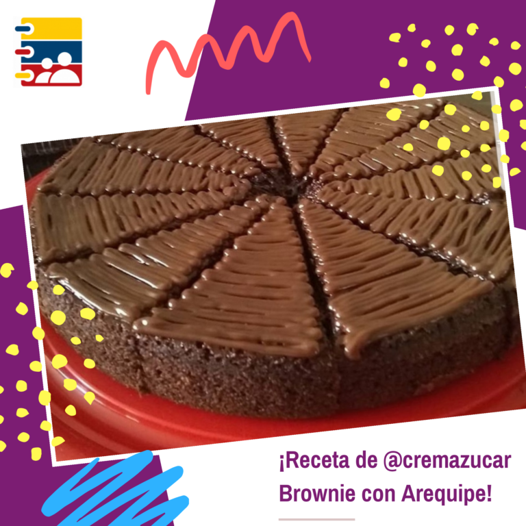 Receta de Brownie con Arequipe